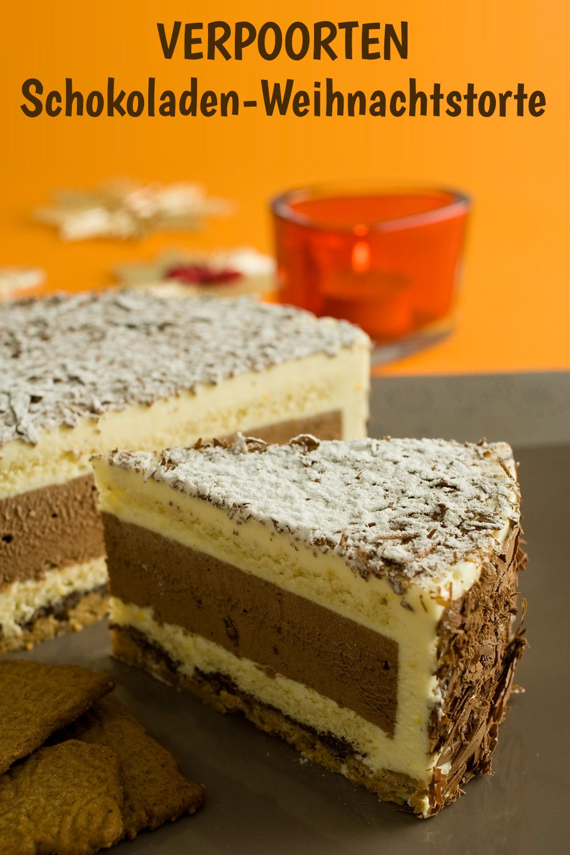 Weihnachtstorte mit Schokolade und Eierlikör ''VERPOORTEN-Schokoladen-Weihnachtstorte'' - Kuchenrezepte mit Eierlikör