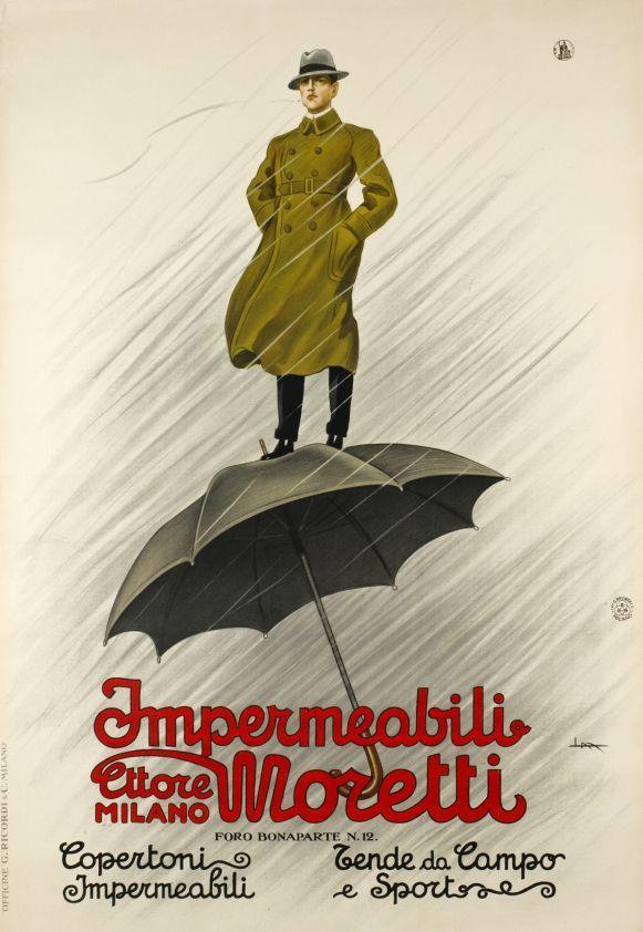 Copertoni vintage raincoat ad poster repro 12x18