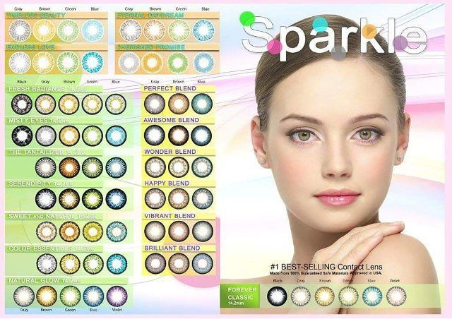 Sparkle Contact Lens for Sale! Made from Korea. High Quality and Affordable P300.