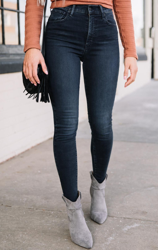 Shaping Skinny Regular Jeans | Black jeans, Ripped denim