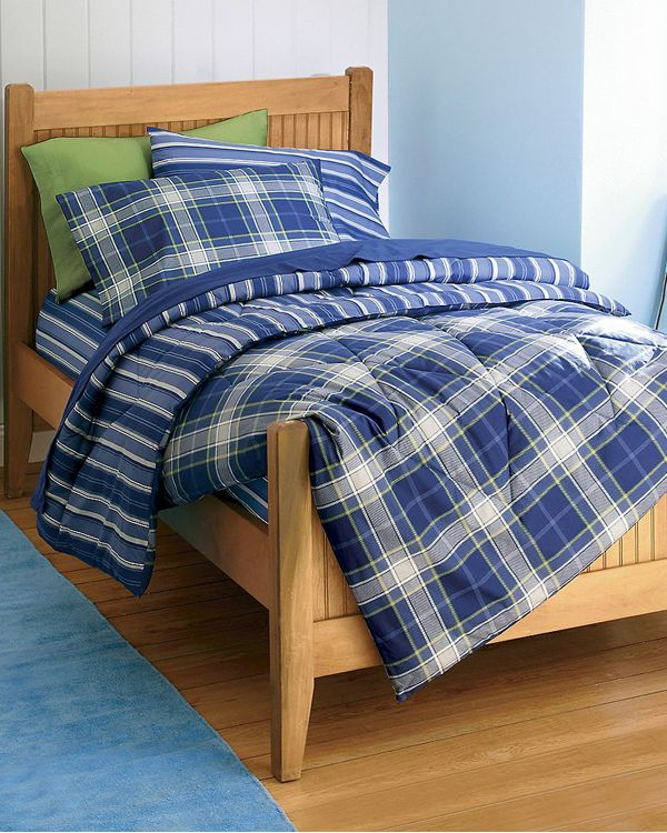 Boys Bedding & Room Decor | Plaid bedding, Blue plaid and ...