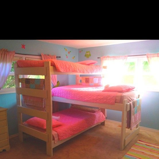 Triple Bunk Bed Just Remove The Pink For My Boys And Replace With