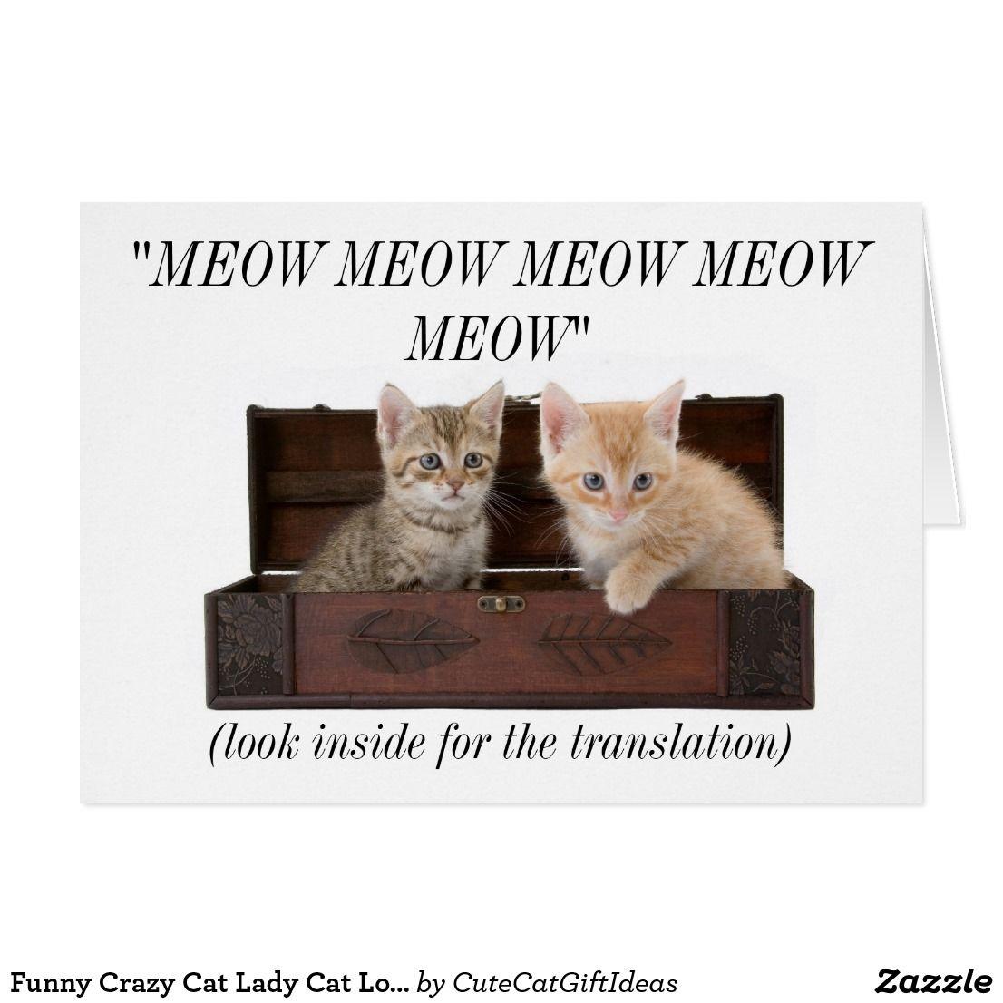 Funny crazy cat lady cat lover birthday card funny greeting cards funny crazy cat lady cat lover birthday card kristyandbryce Gallery