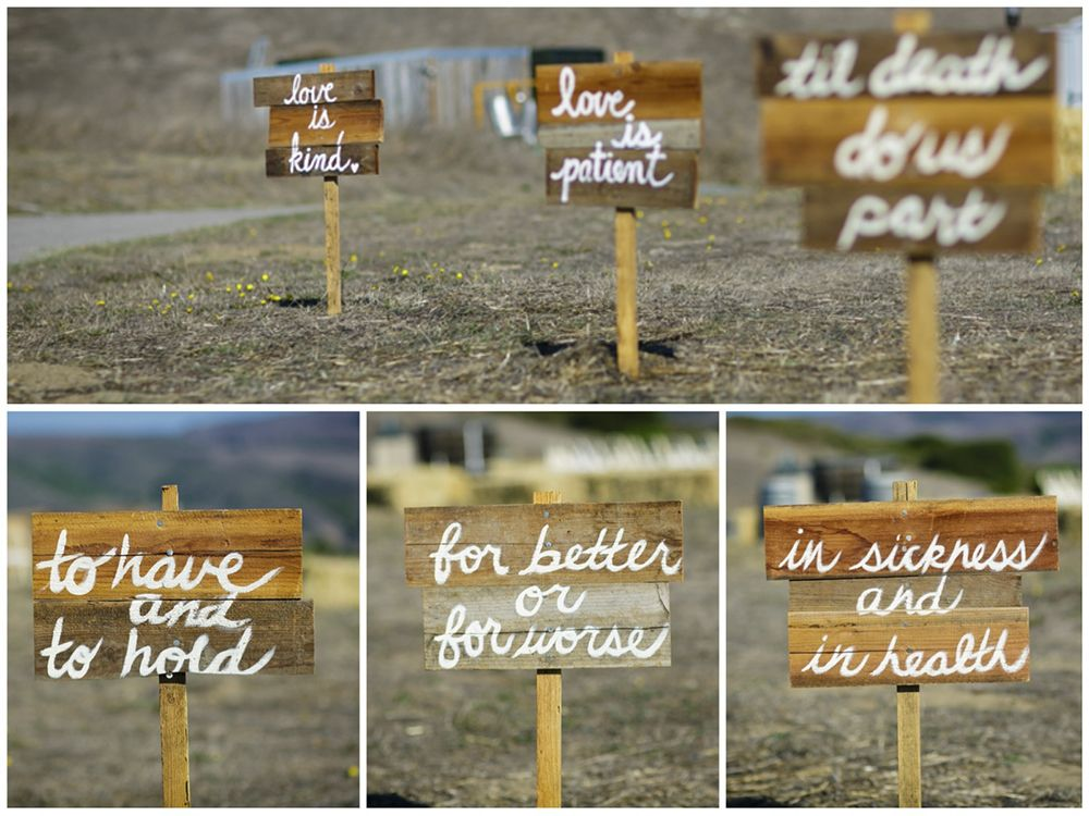 Burlap And Lace Rustic Wine Country Wedding Love Is Patient Signs Handmade