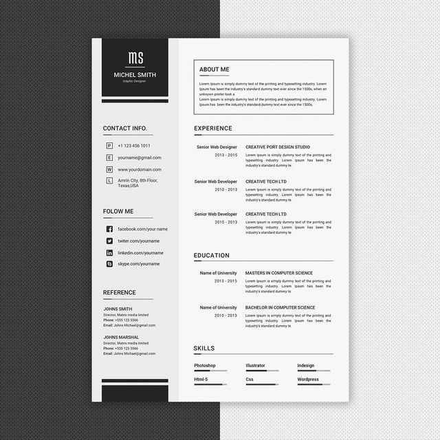Simple Cv Design Template In 2020 Cv Design Template Cv Design