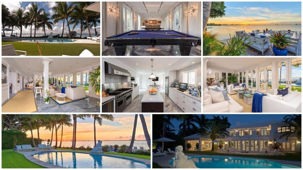 Miami Beach Home For Sale On La Gorce Island