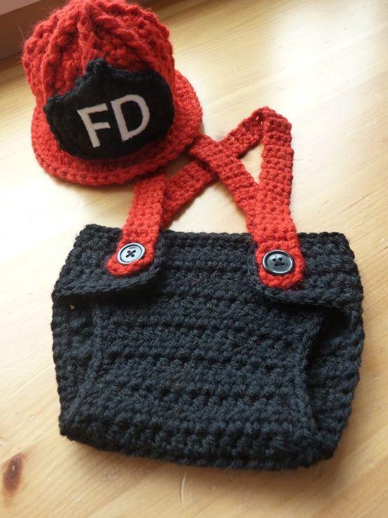 Crochet Little Firefighter Set | Tejido de bebes. | Pinterest
