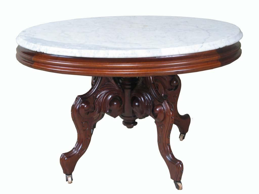 Victorian furniture table - Victorian Oval Walnut Coffee Table Ca1870