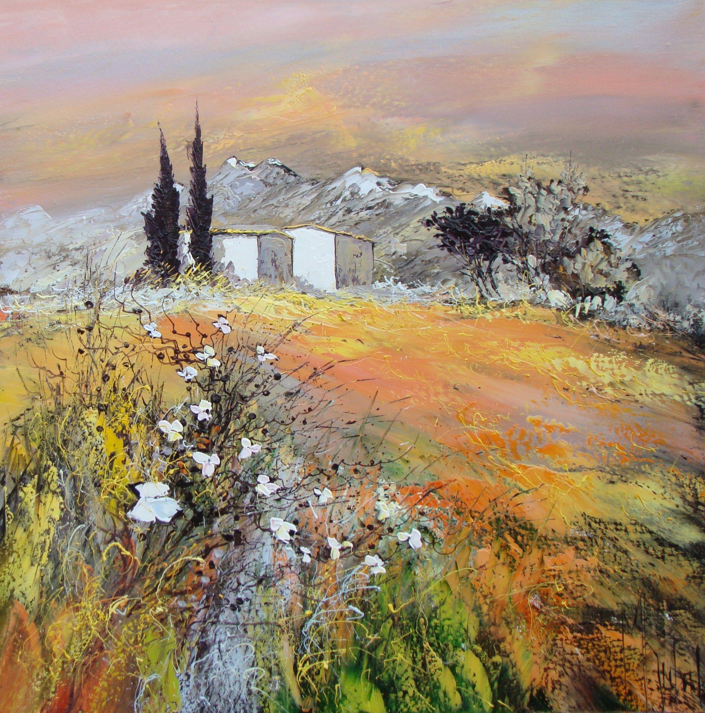 Peinture à l' huile sur Toile au couteau de : Manuel RUBALO | Peinture paysage, Peinture et ...