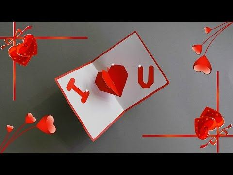 Tutorial How To Make Easy Valentine S Day Pop Up Card Diy Card Making Ideas Youtube Valentines Cards Diy Pop Up Cards Valentines Day Cards Handmade