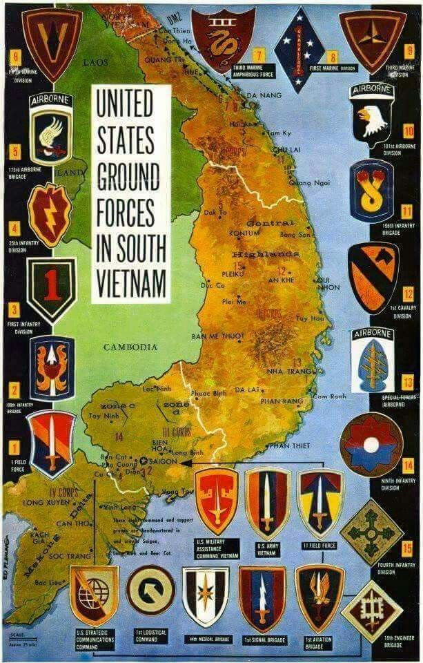 US Ground forces in South Vietnam | History | Pinterest ...