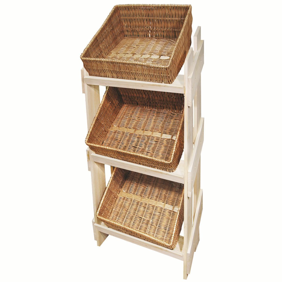 Retail Display Stands Wood & Wicker Display Stands