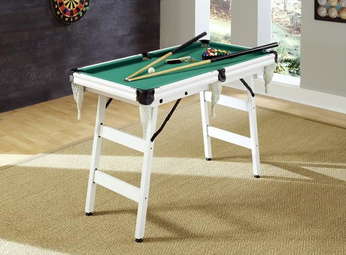 The Junior Pro 4 Pool Table In White Home Styles Pool Table Dimensions Portable Pool Table