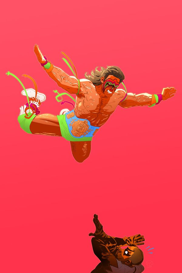 The Ultimate Warrior By Carl Pearce Ultimate Warrior Warrior Wrestling Posters