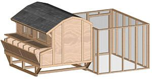 Plans to build your own chicken coop -- several different sizes and styles. Great way to DIY and save money.