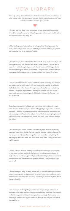 9 Wedding Vows