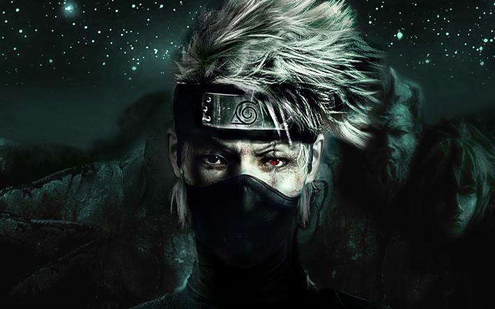 Download wallpapers Naruto, Kakashi Hatake, Team 7