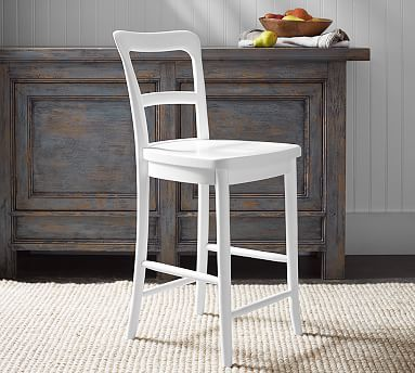 Magnificent Cline Counter Stool White Pottery Barns Small Spaces Machost Co Dining Chair Design Ideas Machostcouk