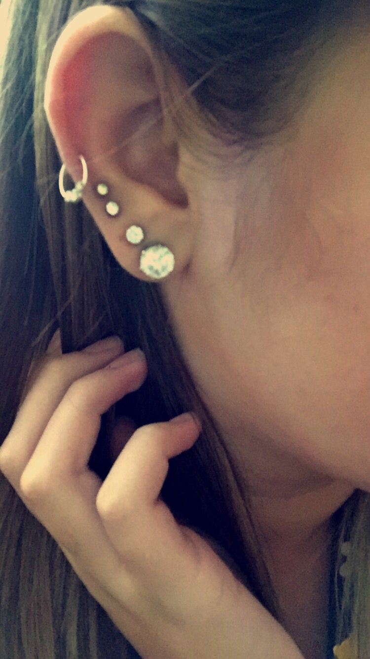 My piercings- 4 lobes + midway cartilage