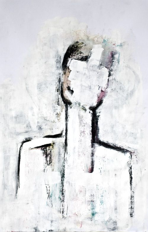 Annct Braunsteiner 'strong no.3' Charcoal, Acrylic over black Ink - AnnCT 11/2011  http://annctbraunsteiner.com/painting/art-work-2011/