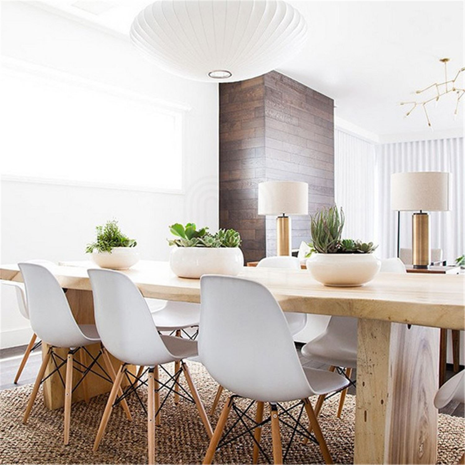 Details About Style Dsw Wood Base Mid Century Modern Shell Dining