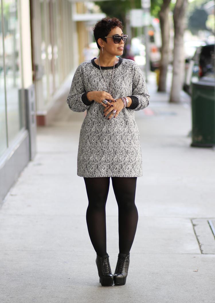 DIY Lace Sweater Knit Dress + Sew-Along | Mimi G Style