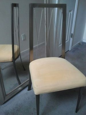 Z Gallerie Platinum Wire Chair in Stone Mountain, GA (sells for $100)