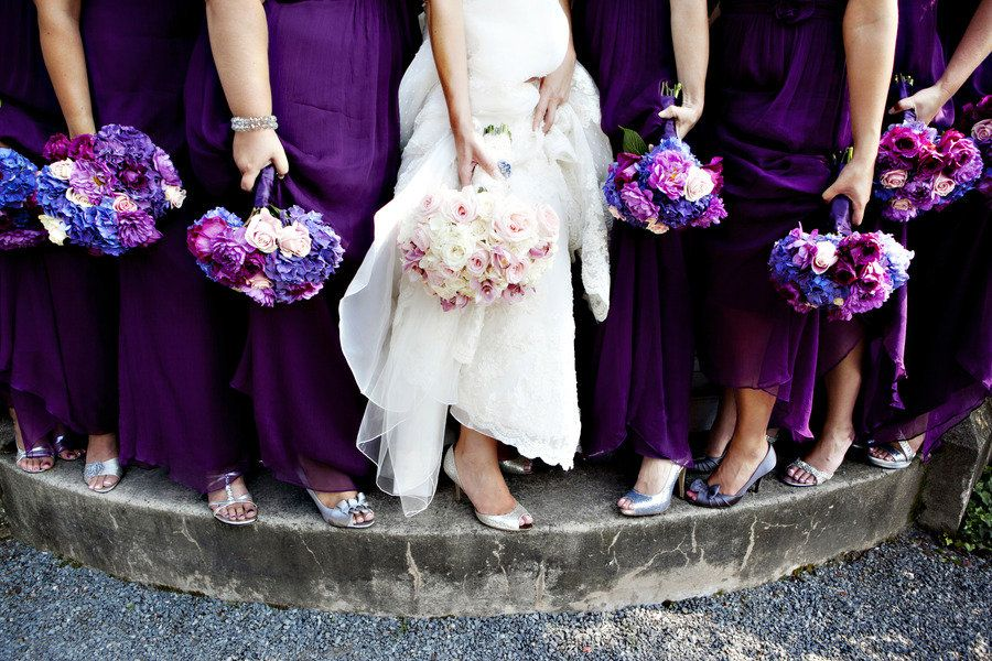Purple Blue Wedding Flowers