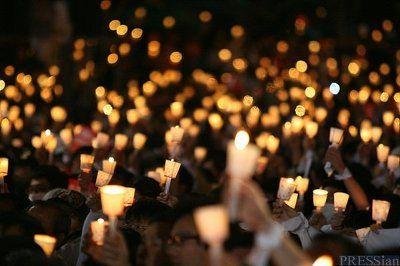 촛불집회 영어로 하면 Candlelight Vigil 강좌 엽서 생각