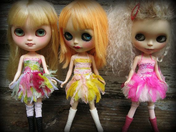 OOAK Pink Silk Clothing as Art Dress for Blythe