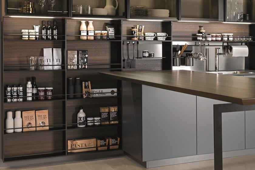 Fitted Kitchen backsplash SPACE by Euromobil Kitchen Designs - ernestomeda barrique