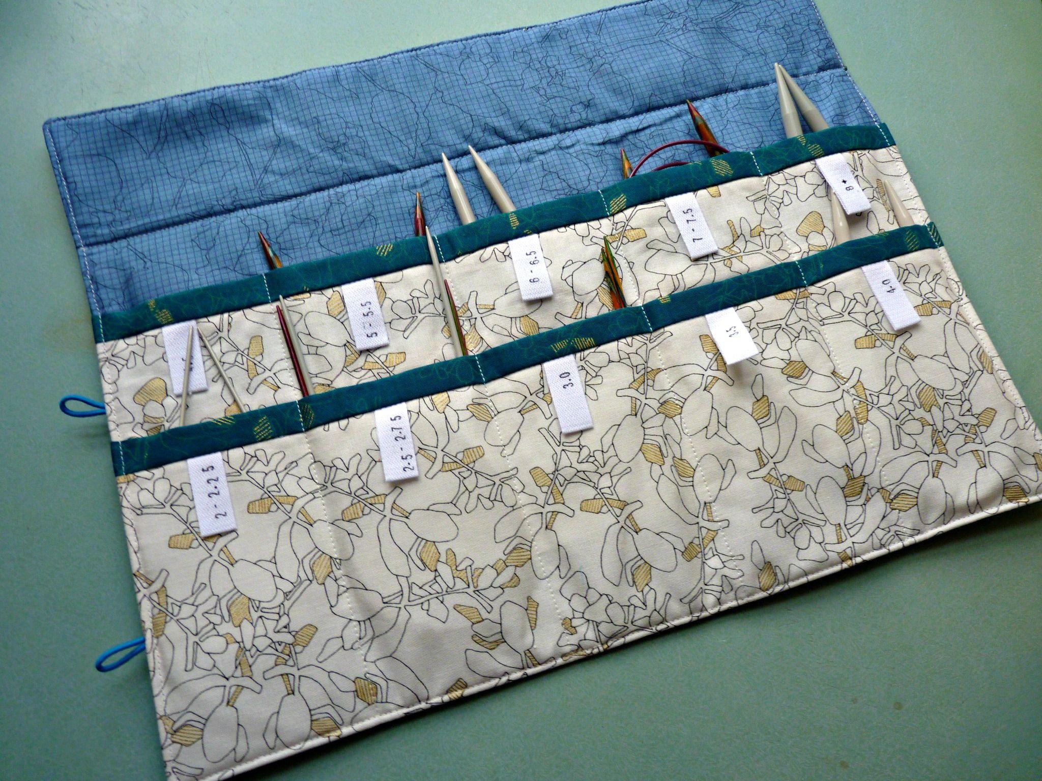 Circular Knitting Needle Case Tutorial   Knitting ideas ...