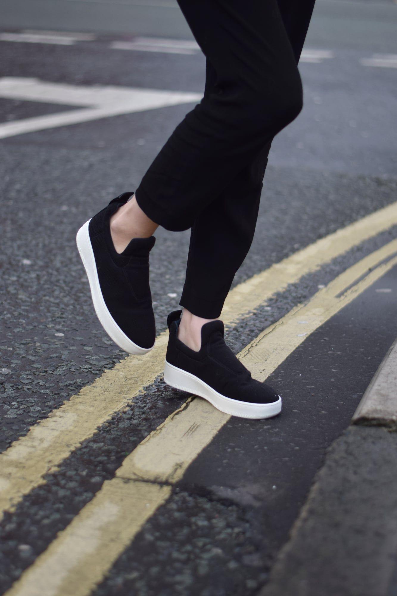 www.shotfromthestreet.com - so in love with my Celine slip on sneakers! 26dfd7aee