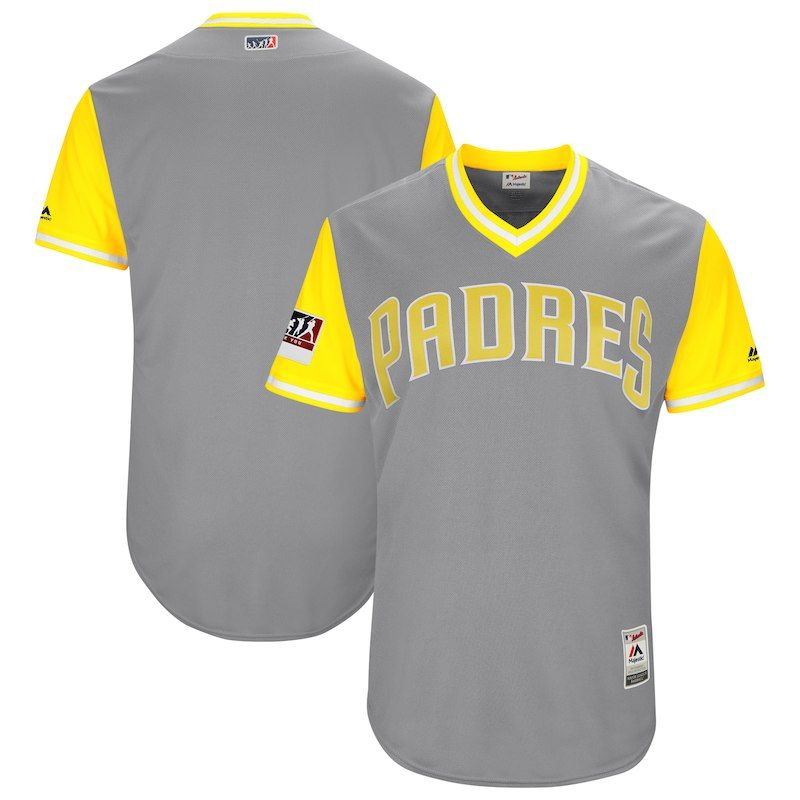 21004a1e San Diego Padres Majestic 2018 Players' Weekend Authentic Team Jersey –  Gray/Yellow
