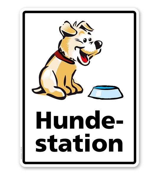 Hinweisschild Hundestation Hundestation