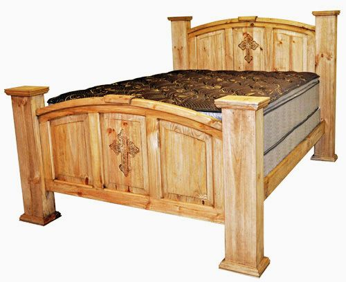 King Mansion Bed W Cross Rustic Furniture Great
