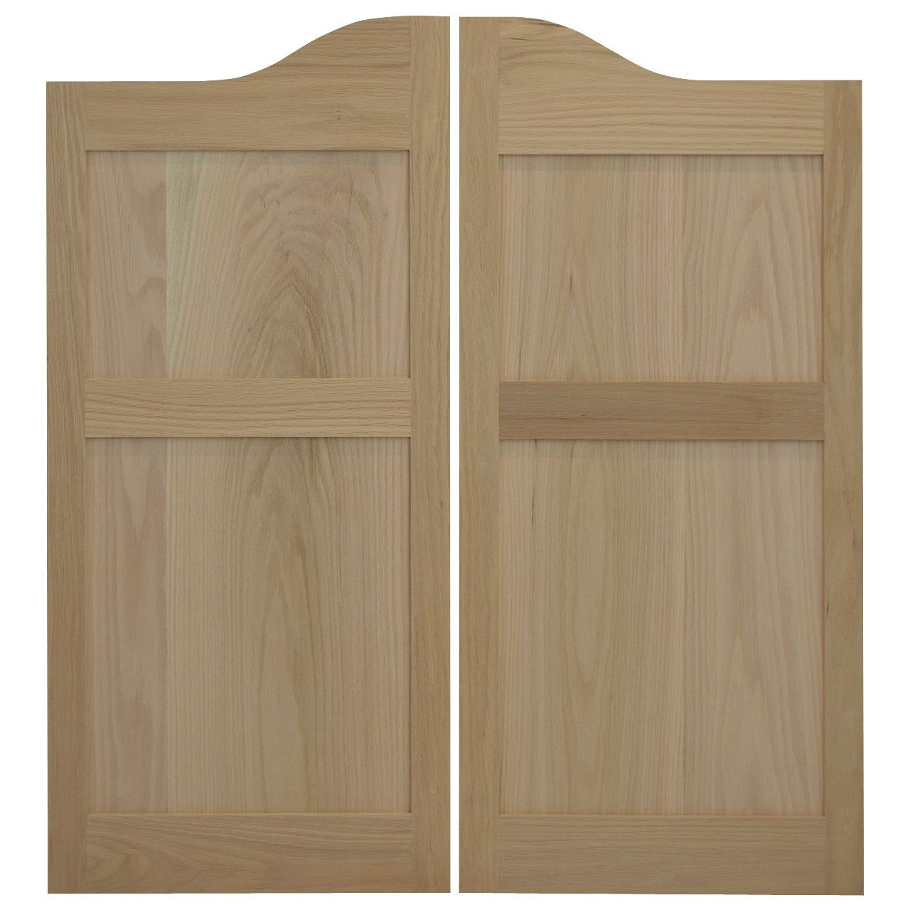 oak shaker style flat panel cafe doors saloon doors 24 - Shaker Cafe Ideas