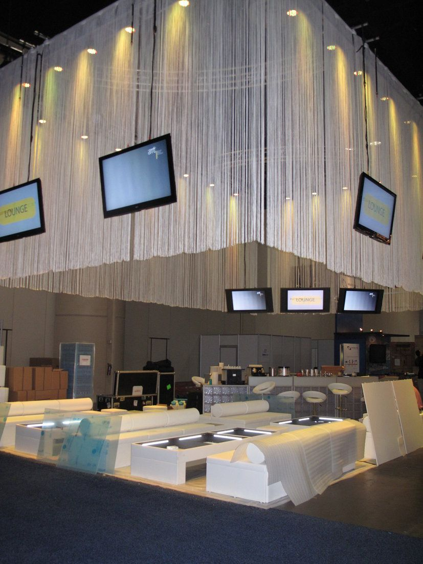 String curtain ideas - String Curtain Design In A Trade Show Booth