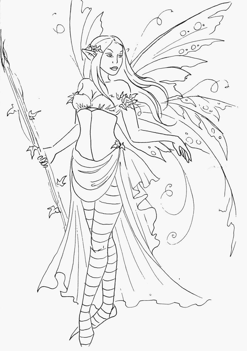 Janna Prosvirina Fairy Queen coloring - Kleurplaten