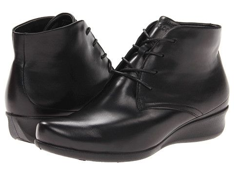 ECCO Abelone Lace Bootie Black Soft Butter Shiny