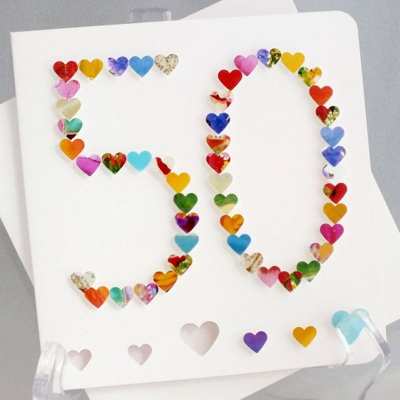 Handmade 3D 50 Card 50th Birthday By CardsbyGaynor GBP395