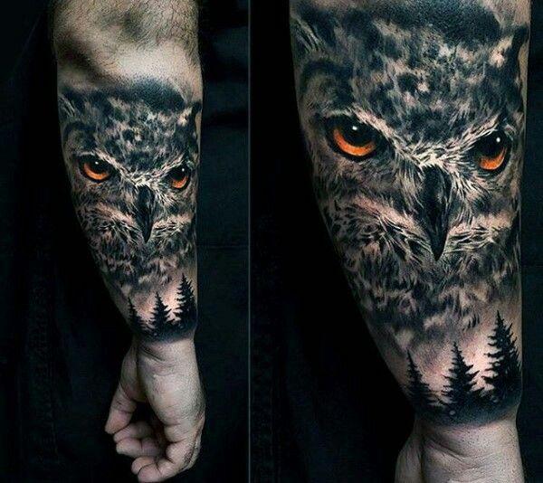 Tatouage Hibou Avant Bras Tatouage Avant Bras Homme Tatuaje Buho