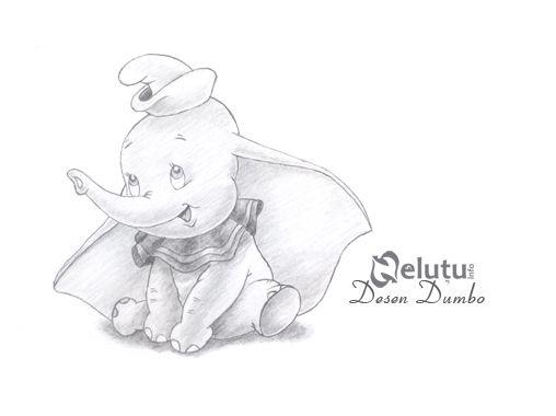Disney cartoon pencil drawings dumbo pencil drawing by nelutuinfo