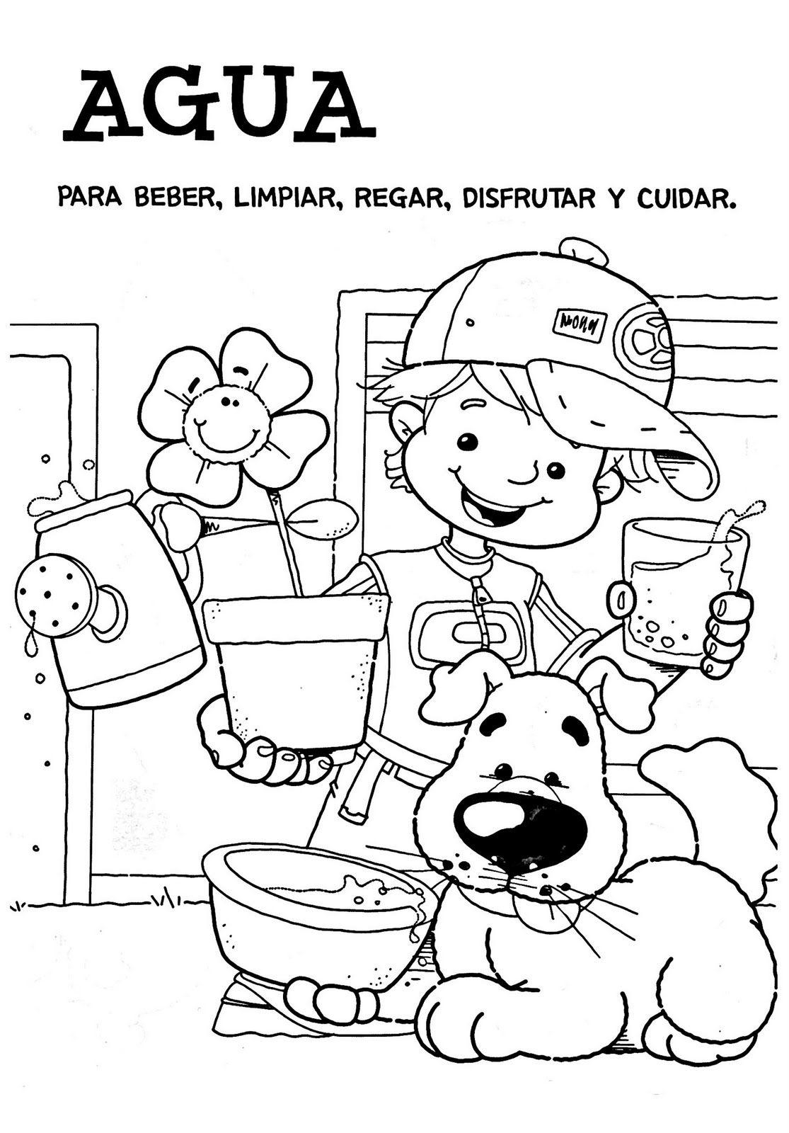 Dibujos del día del Agua | Plantillas Dibujo Personas Mayores ...