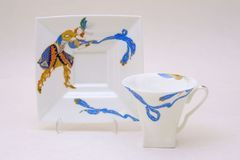 Cup and saucer tea Petropolis Indian dance 220ml 81.19122.00.1