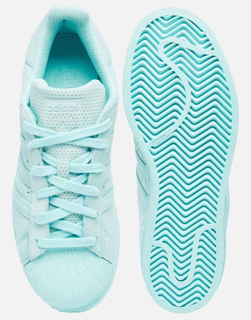 new style a32fa f3f1a Adidas   adidas Originals Superstar RP Tonal Aqua Sneakers at ASOS