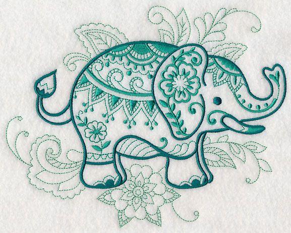 mehndi elephant design l4617 from machine embroidery designs pinterest. Black Bedroom Furniture Sets. Home Design Ideas