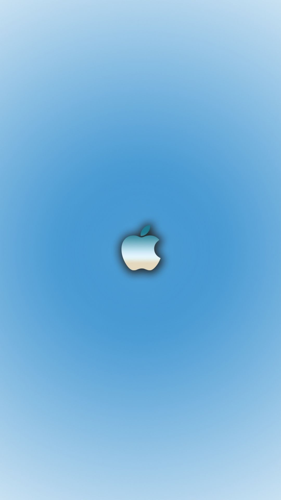 おしゃれ系 Appleロゴ ブルーグラデーション Apple ロゴ Iphone