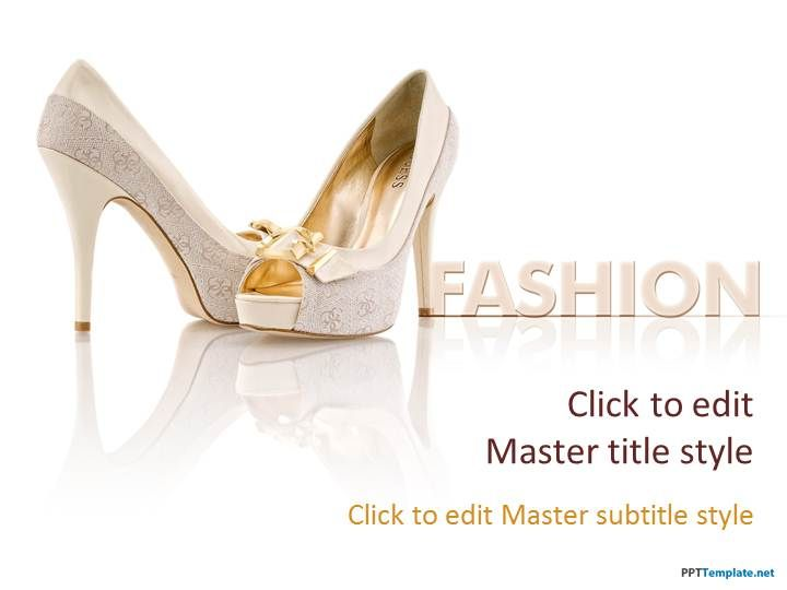 Free Heels Ppt Template Fashion Ppt Templates By Shawan Jack