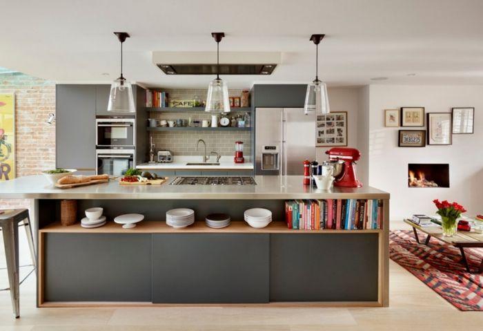 küchenarbeitsplatte aus beton und holz Kitchen Pinterest - offene küche wohnzimmer trennen